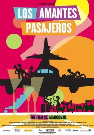 Cartel de Los amantes pasajeros